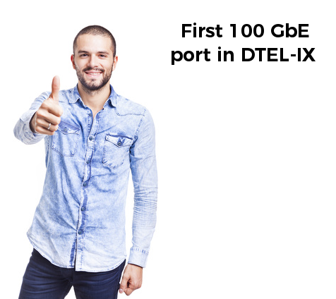 First 100GbE port to IXP in Ukraine